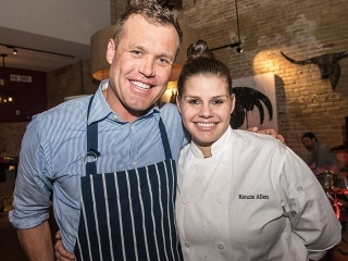 Flashback to #SearsuckerATX TWO Year Anniversary party with Chef @BrianMalarkey and Chef @KenzAllen88! #KeepAustinSeared