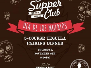 "Tequila lovers... This one's for you!  Join our ""Dia De Los Muertos"" celebration with a 5-course tequila pairing dinner featuring Tequila Fortaleza. Reserve by clicking on the link in our bio!"