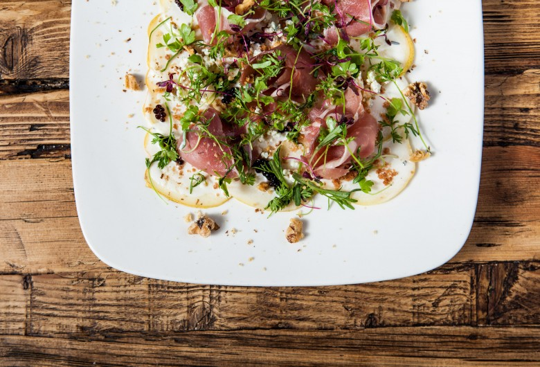 Pear Carpaccio & Prosciutto 2_Marie Buck Photography
