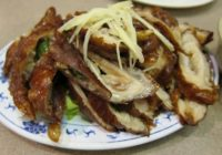 fried pork intestines