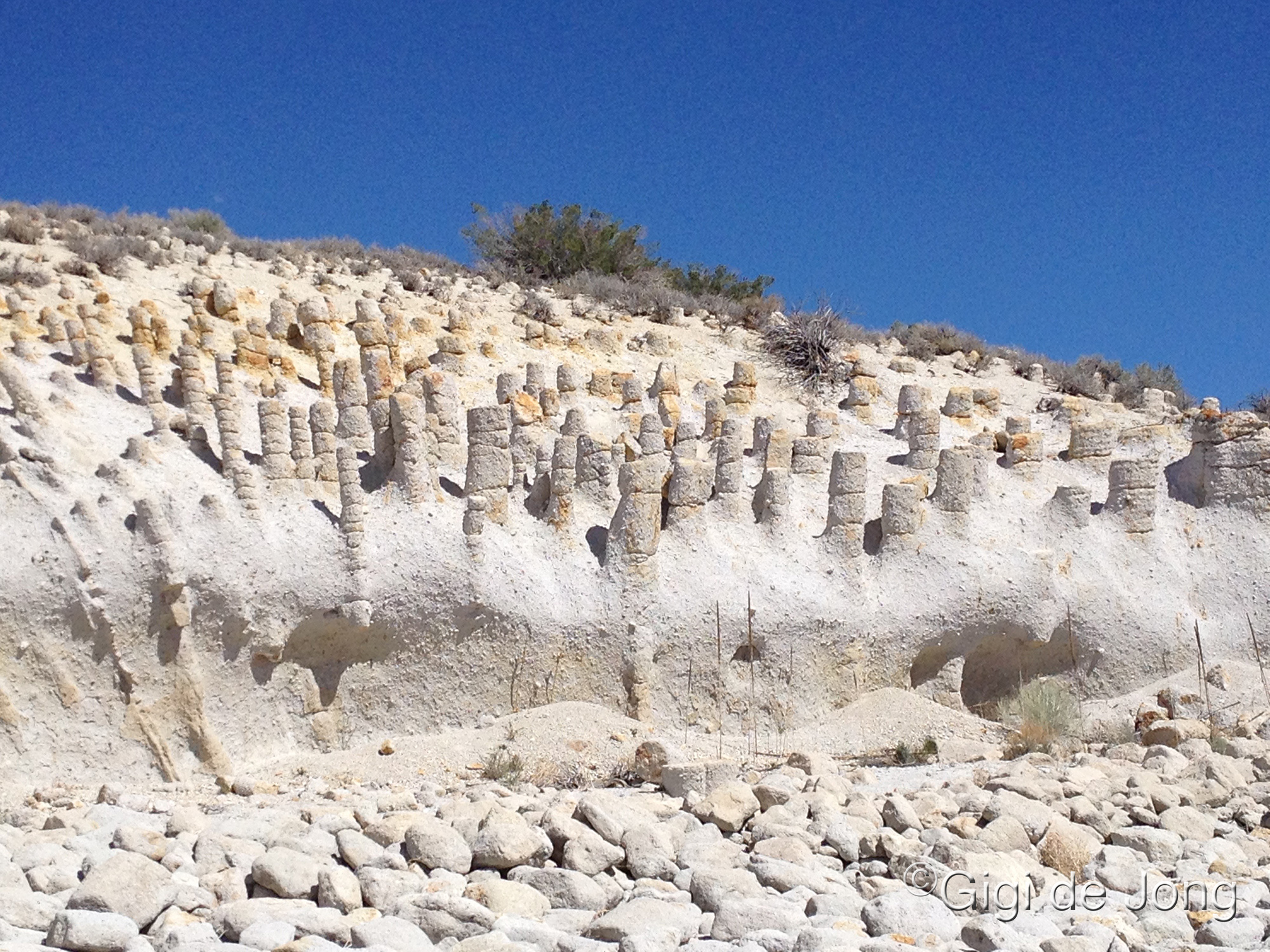 Mysterious Stone Columns of Crowley Lake, California, USA
