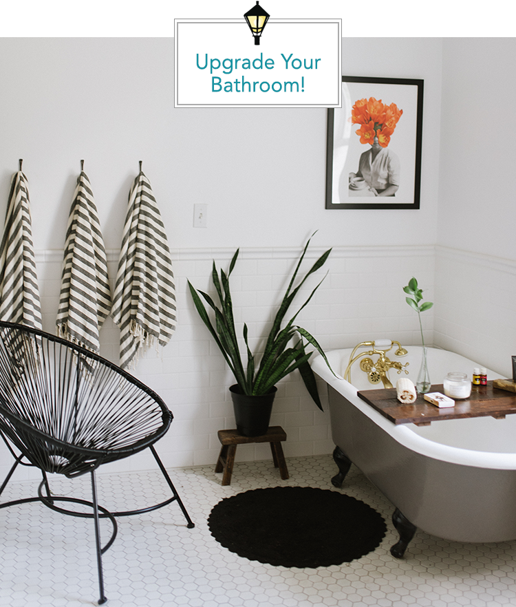 Simple ways to make upgrade your shower curtain.