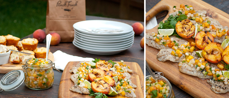 Grilled Fish and Peach Salsa Recipe