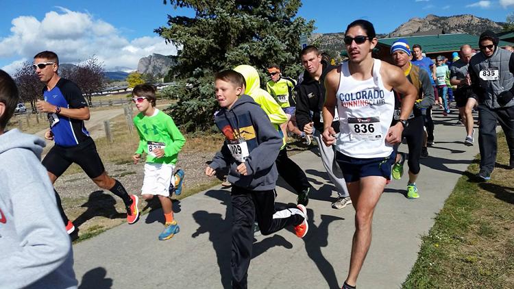 Partners Mentoring Youth Running of the Bulls 5k Estes Park Colorado