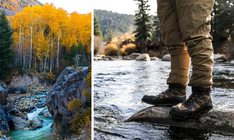 Fall waterfall hiks Colorado