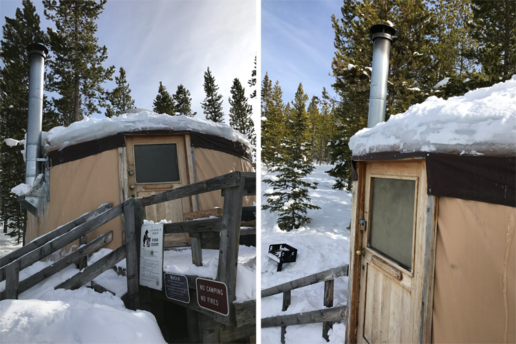 Never Summer Nordic Yurts Fort Collins snowshoeing Northern Colorado