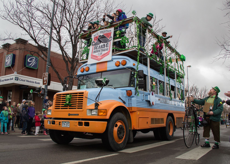 Old Town Irish Party Lucky Joe's St. Patrick's Day Parade Fort Collins Colorado