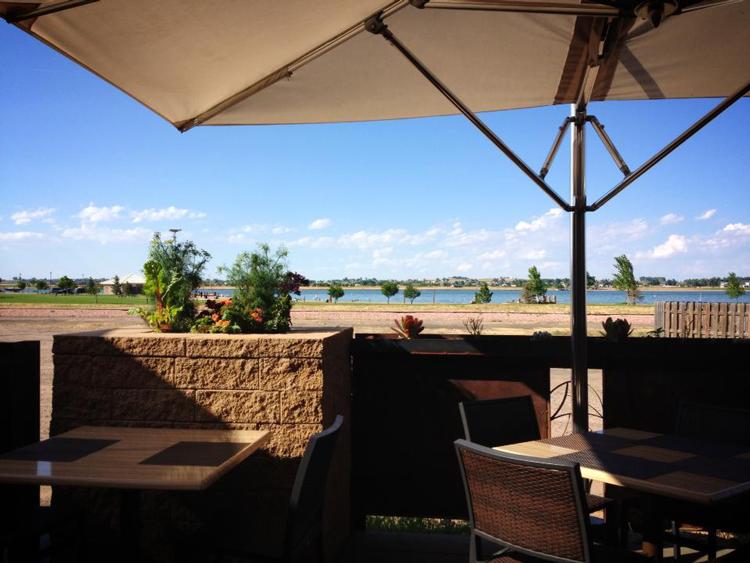 Chimney Park Windsor Colorado patio restaurant with a view