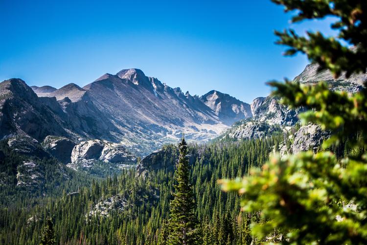 Bear Lake Trailhead in Rocky Mountain National Park