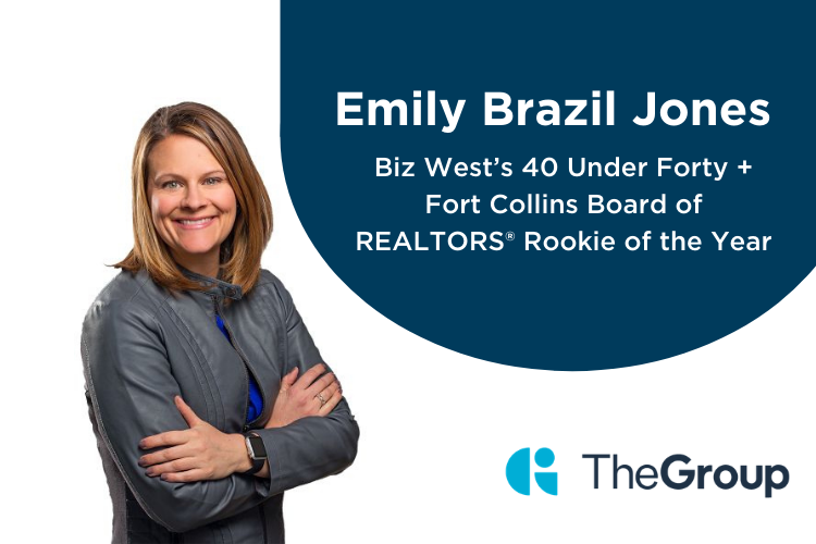 Emily Brazil Jones The Group Real Estate Nominated for Biz West's 40 Under Forty + the Fort Collins Board of REALTORS® Rookie of the Year