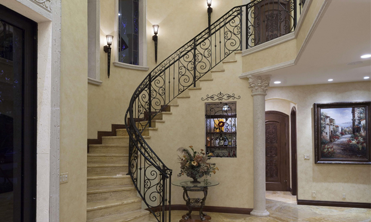 Hidden Wine Room Under Castle-Like Staircase