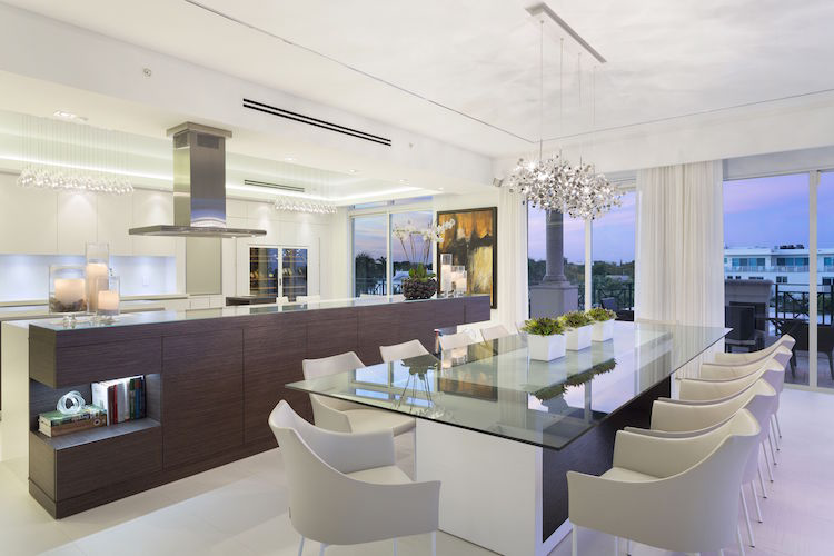 State-of-the-Art Wine Coolers in Modern Penthouse