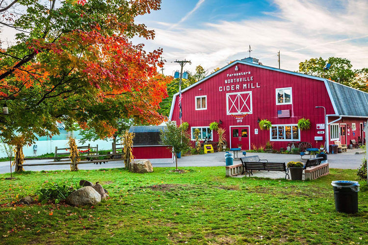 Parmenter's Cider Mill pumpkin patches apple orchards near Ann Arbor Michigan