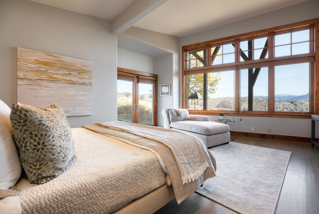 Mountain views from the comfort of your bedroom