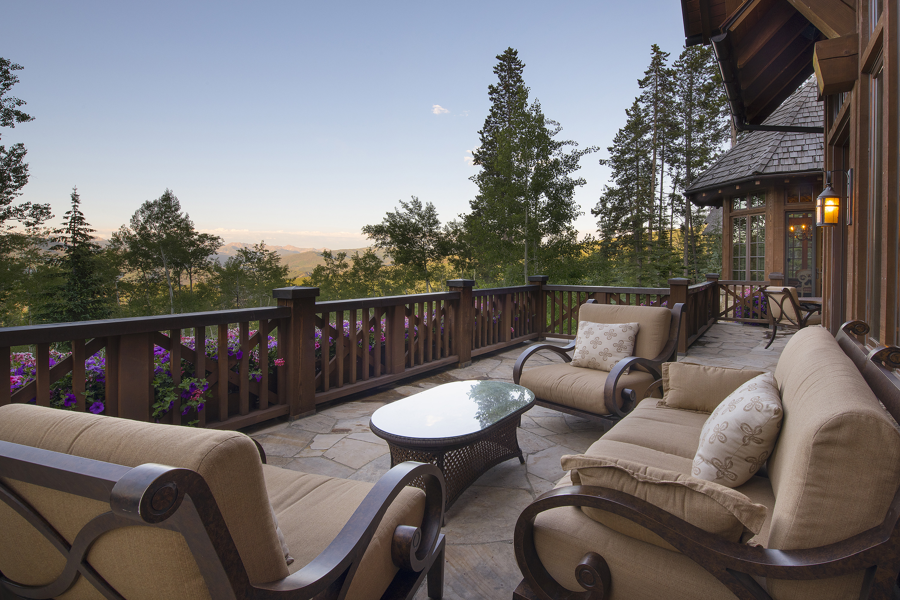 The peacefulness and tranquility of the private deck speaks itself.