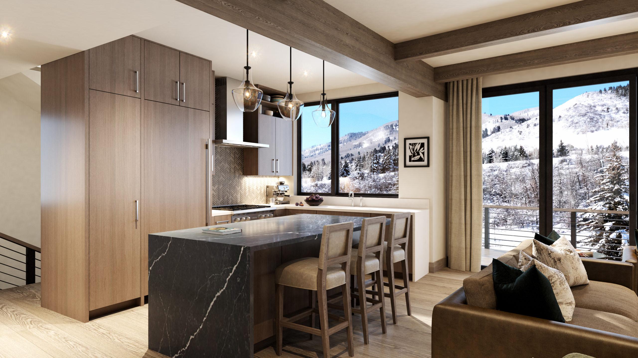 Riverfront Residences Virtual Rendering Kitchen