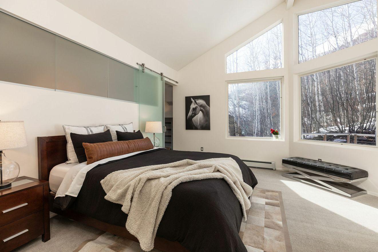 Light and bright luxury master bedroom