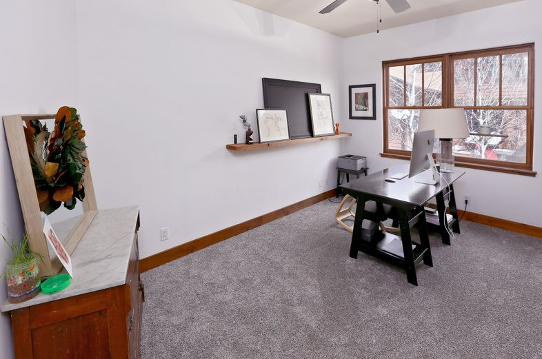 Spacious home office in single-family home
