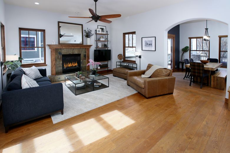 Sunny family room in single-family home for sale