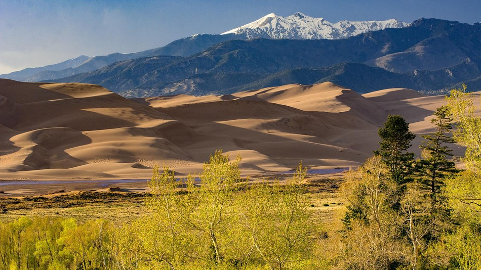 Colorado Getaways - Aerial view of the Great Sand Dunes National Park