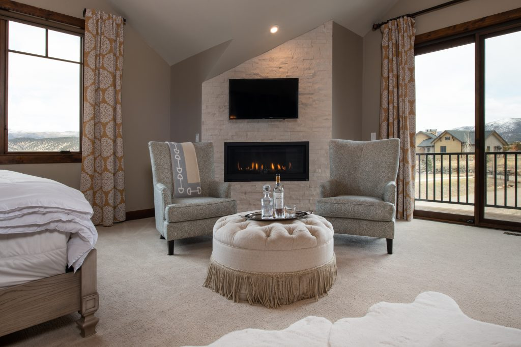 Prepping your home for sale - cozy bedroom nook with fireplace
