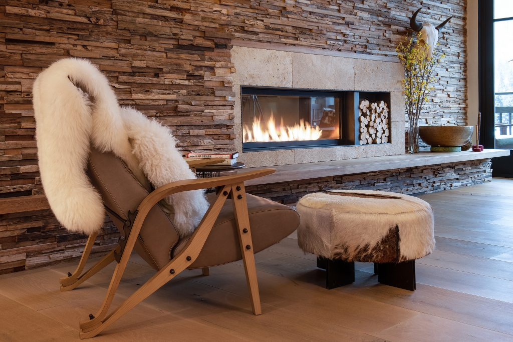 Prepping your home for sale - cozy reading nook by the fire