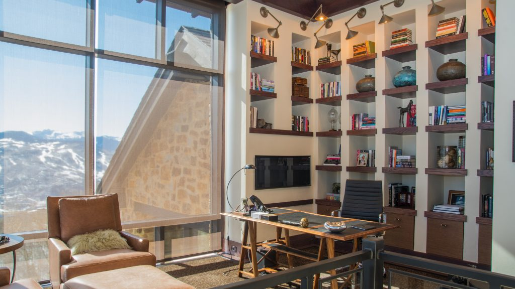 Prepping your home for sale - home office with mountain views