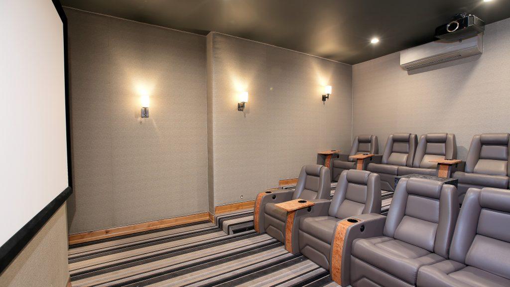 Movie theater in luxury Arrowhead mountain home