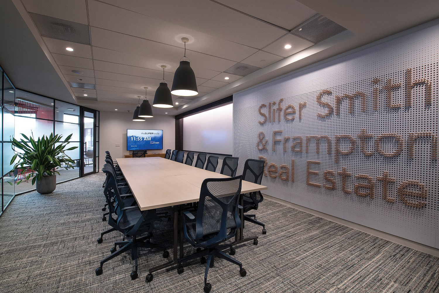 State of the art conference room in real estate office