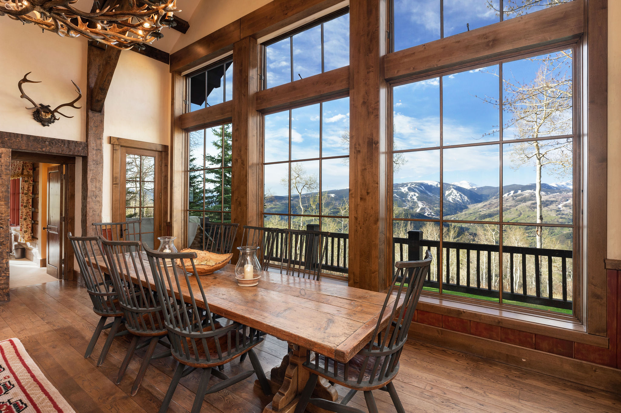 Beautiful views from dining room of luxury mountain home