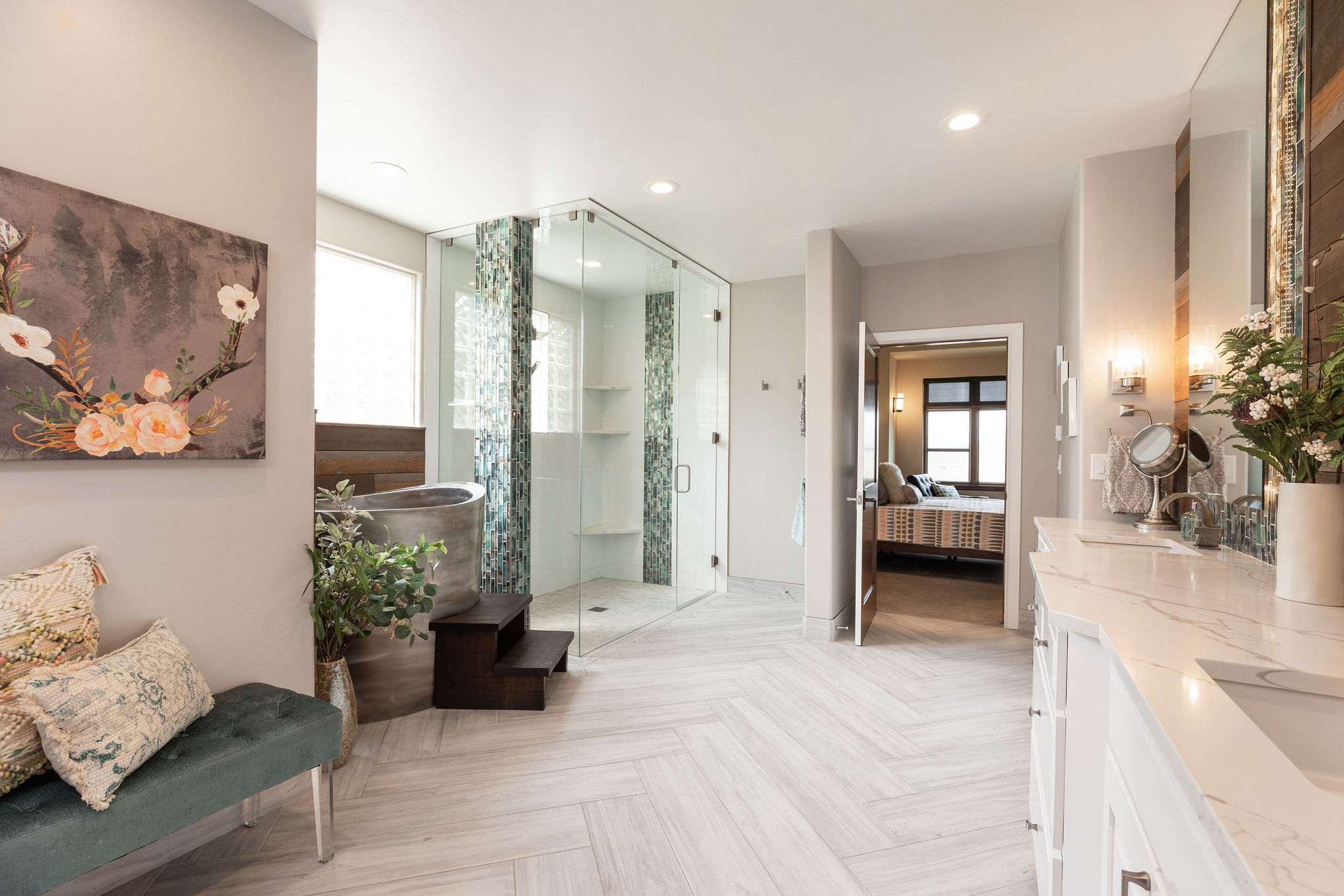 Luxury primary spa bathroom
