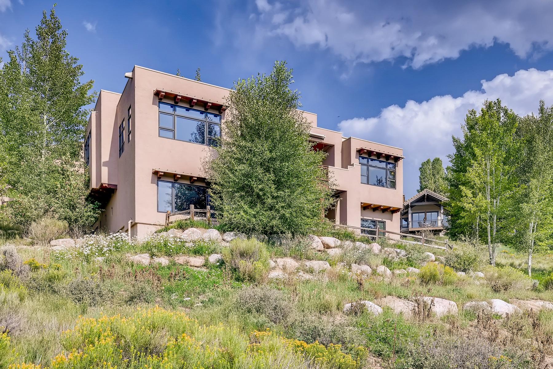 Daytime exterior of luxury mountain home