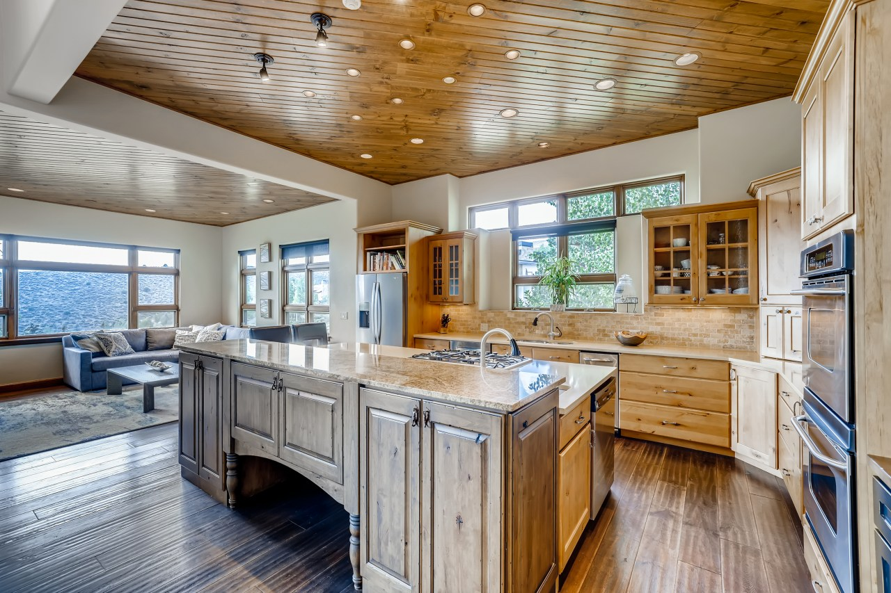 Gourmet kitchen in luxury home