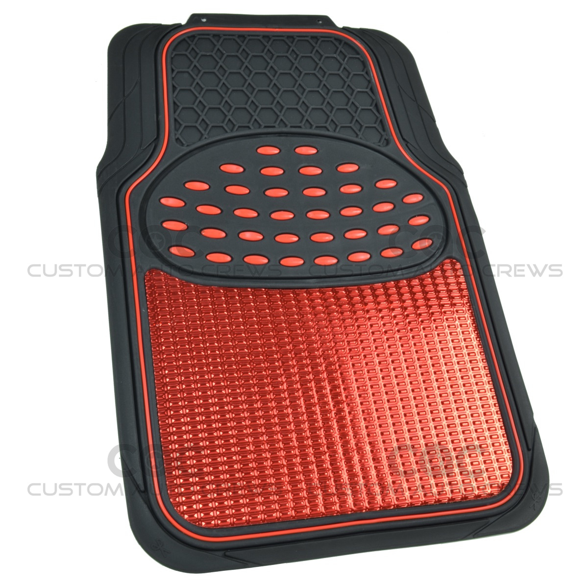 red black metallic design rubber floor mats car suv 4pc front rear floor mats carpets. Black Bedroom Furniture Sets. Home Design Ideas