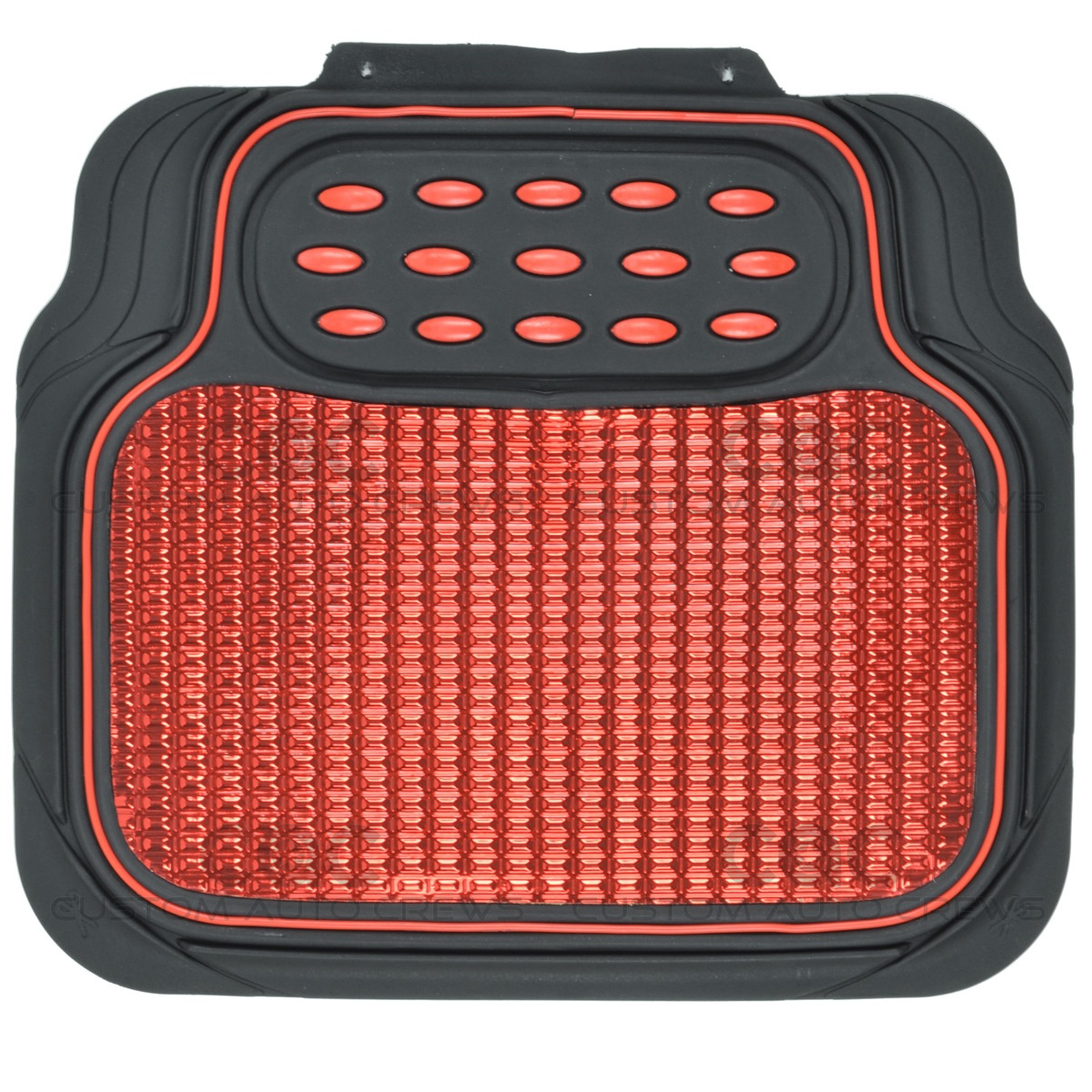 Rubber floor mats suv - Metallic Rubber Floor Mats Red For Car Suv Truck Black Trim To Fit 4 Piece 6 6 Of 8
