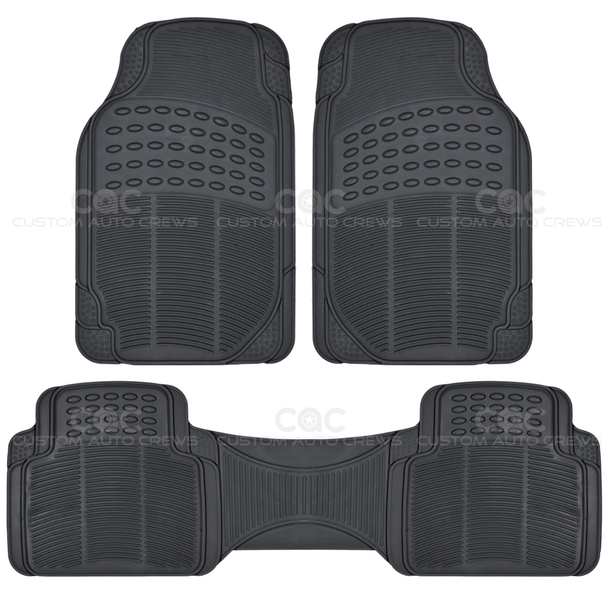 BDK Seat Covers Amp Mats Gray PU Leather Seat Covers Amp Black