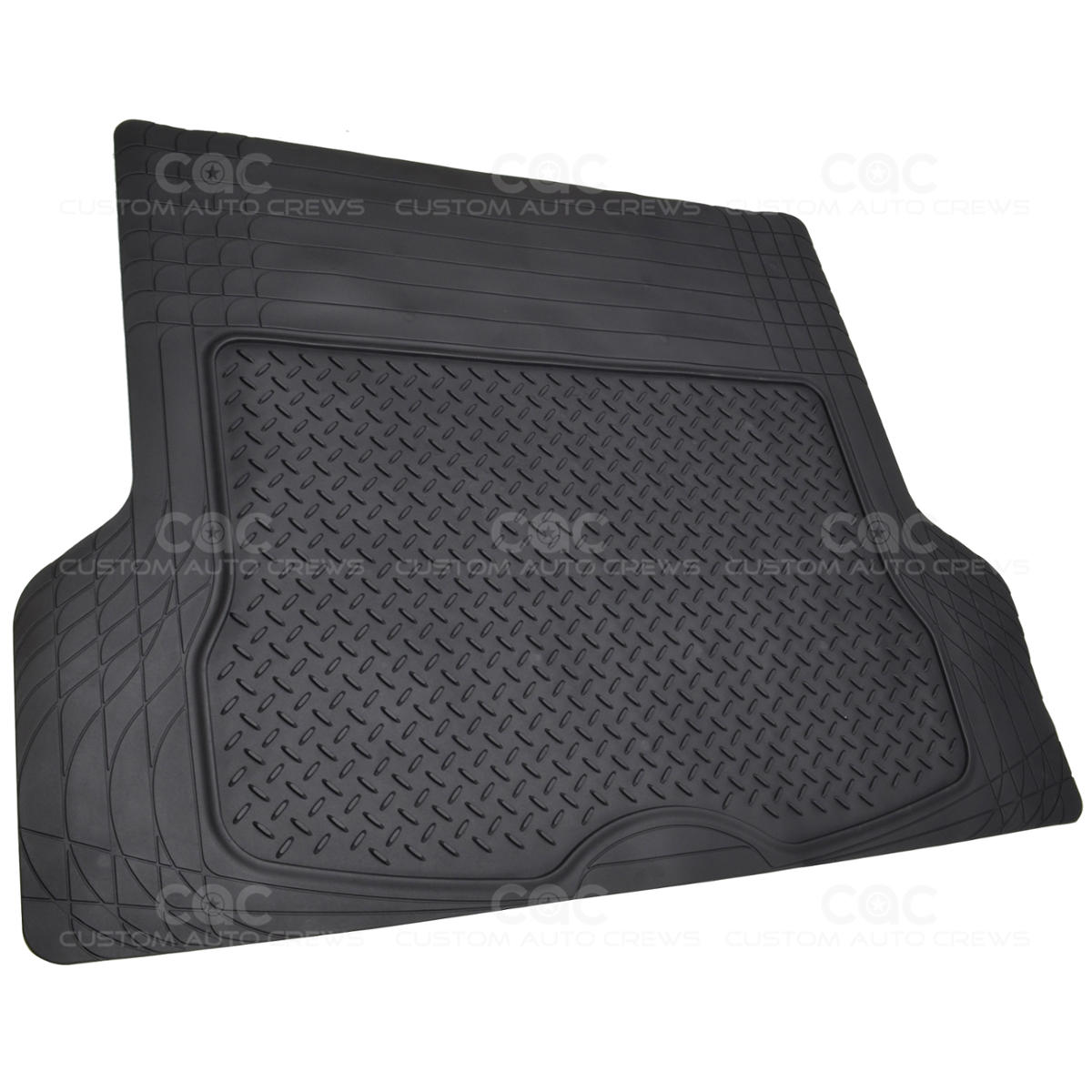 Black 1 piece trim to fit odorless premium cargo trunk mat for 1 piece floor mats