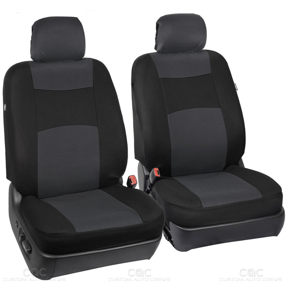 Charcoal Black Seat Cover For Car Auto SUV Polyester