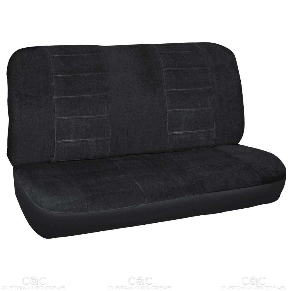 9pc black car seat covers encore cloth auto accessories ebay. Black Bedroom Furniture Sets. Home Design Ideas