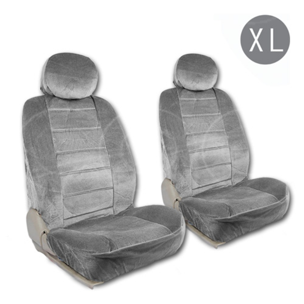 BDK Gray Dotted Car Seat Covers Cloth Extra Size Regal