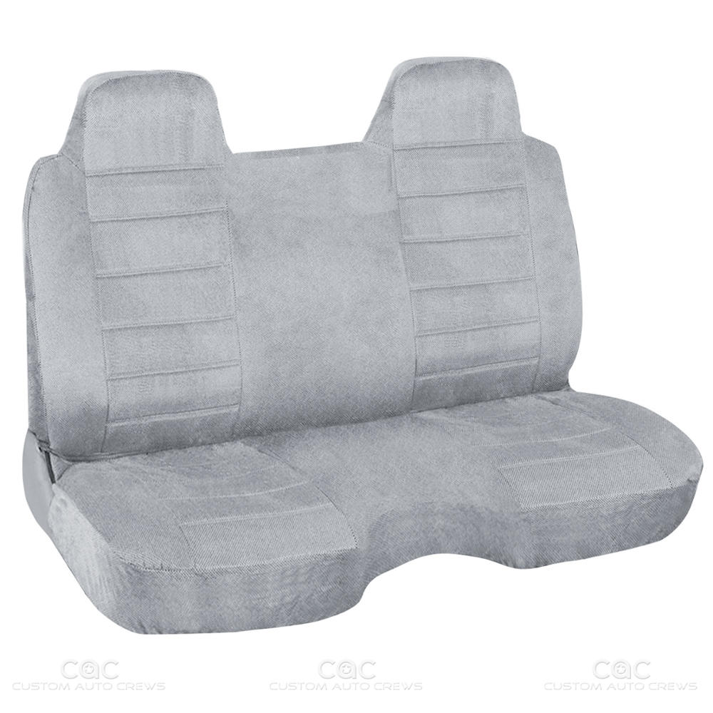 Bench Seat Covers For Trucks ~ Gray regal tweed bench seat cover for pickup trucks semi