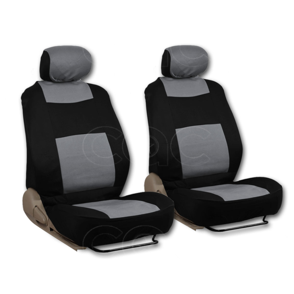 Very Impressive portraiture of Gray Type R 9 Piece Front Car Seat Rear Bench Head Rest Covers Setá  with #5E4F41 color and 1024x1024 pixels
