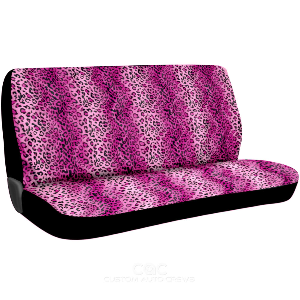 Car Seat Covers And Floor Mats Leopard Pink 13 Piece Set