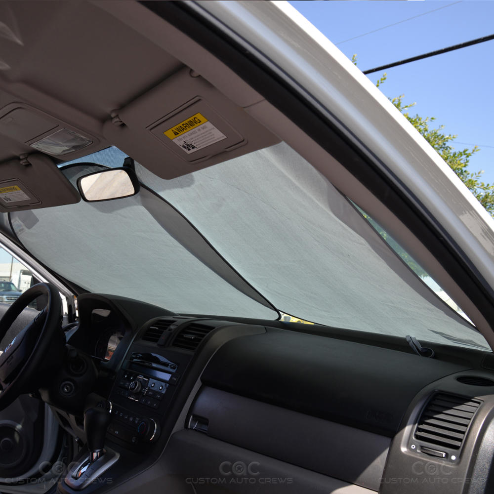 pop up jumbo front car window sun shade auto visor windshield block cover ebay. Black Bedroom Furniture Sets. Home Design Ideas