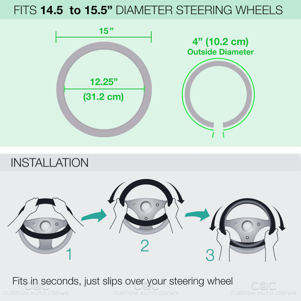 Dolphin Design Steering Wheel Cover 14.5\