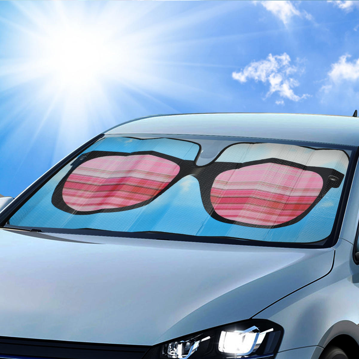 1 piece sunglasses sunshade front windshield reflective backing auto shade ebay. Black Bedroom Furniture Sets. Home Design Ideas