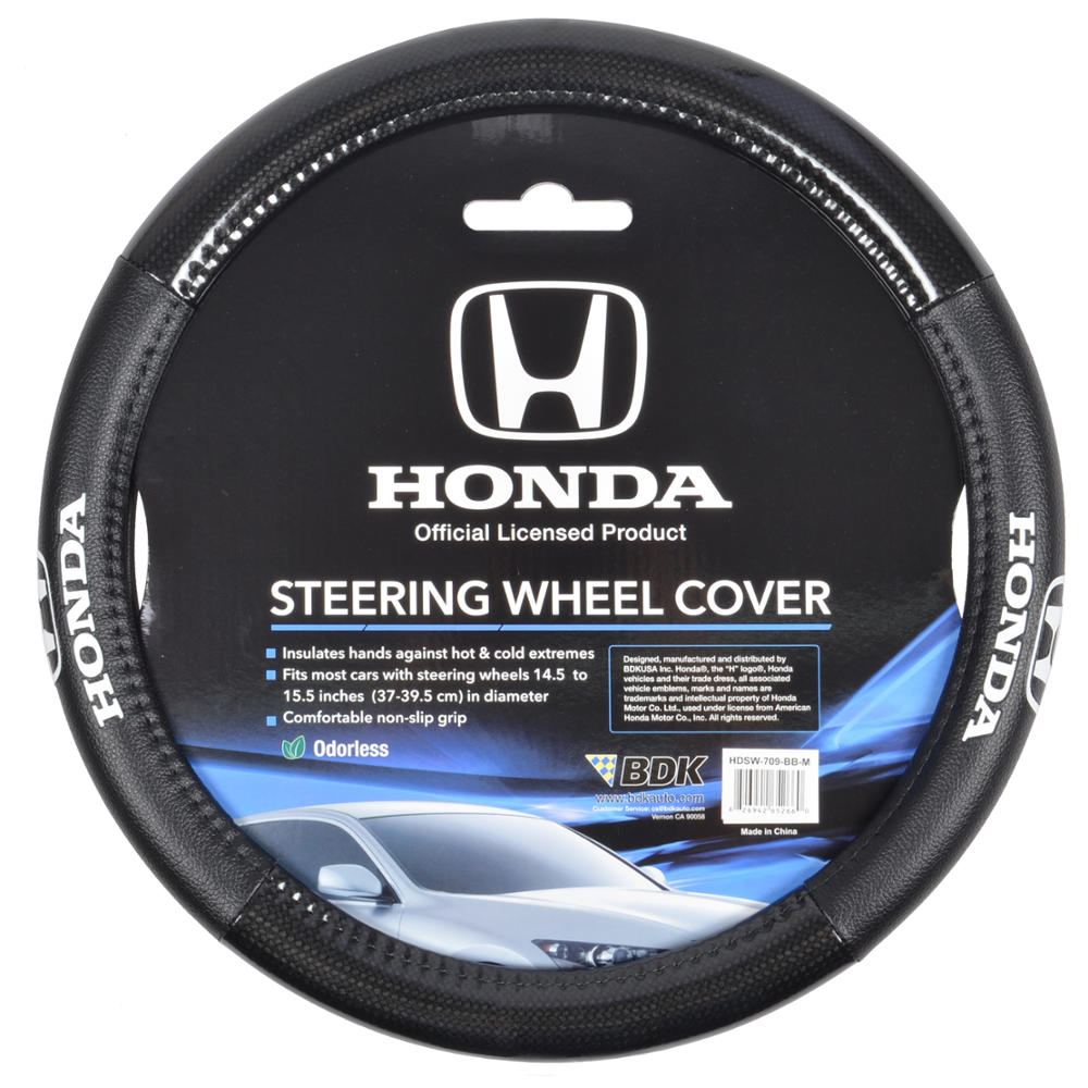 Carbon Fiber Black Synthetic Leather Steering Wheel Cover