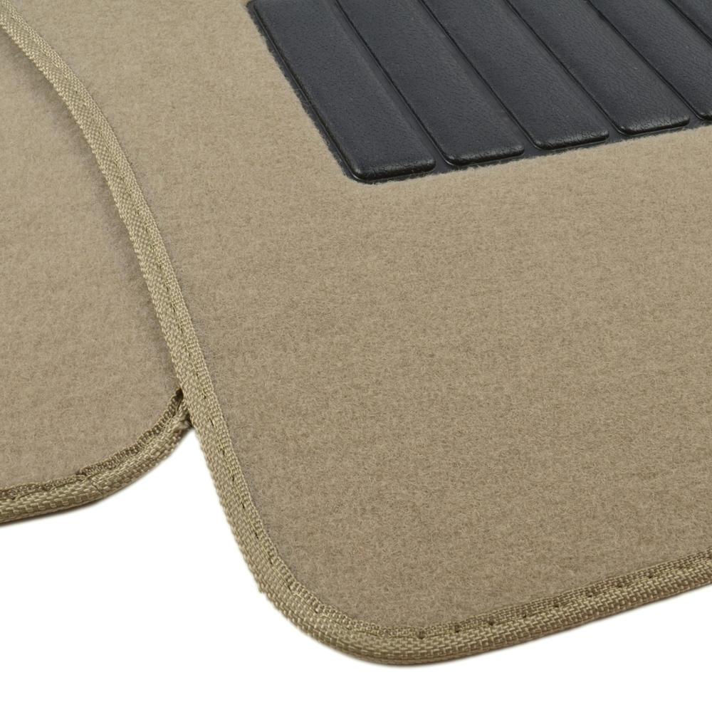 5pc set plush carpet passenger van auto floor mats front for Auto flooring