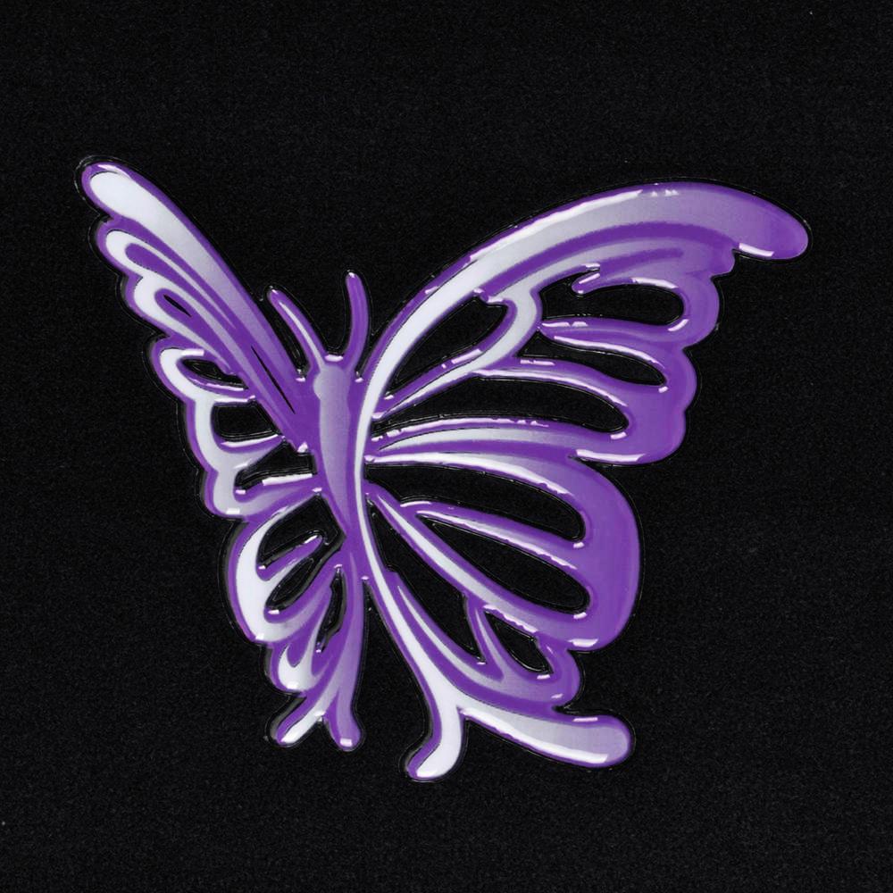 Details about 4 PC Purple Butterfly Auto Carpet Floor Mats For Car SUV ...