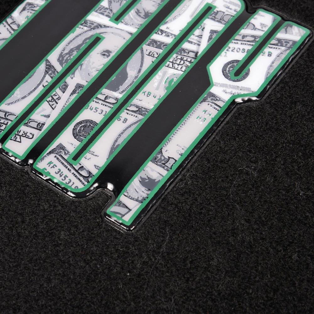 4 piece embossed design car carpet floor mats semi custom for Custom car designer online